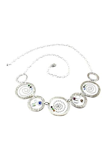 G Gallery & Glass Studio Silver & Crystal Necklace - Main Image