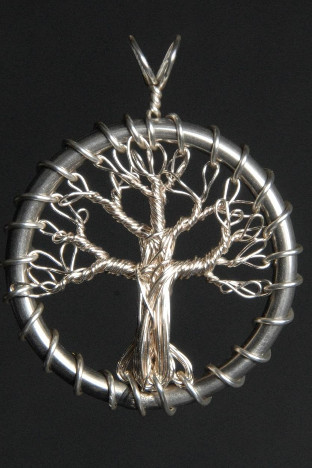 G Gallery & Glass Studio Silver Tree Pendant - Main Image