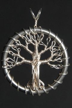 Shoptiques Product: Silver Tree Pendant