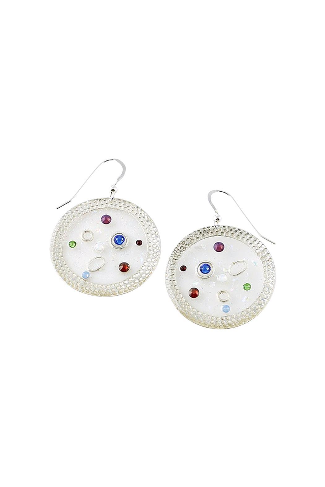 G Gallery & Glass Studio Sterling Crystal Earrings - Main Image