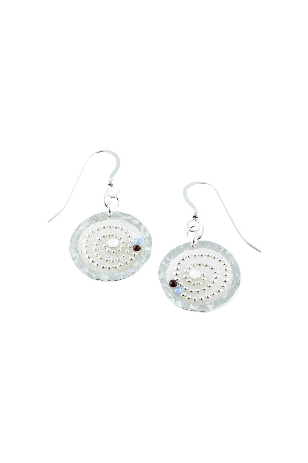 G Gallery & Glass Studio Sterling/swarovski Earrings - Main Image