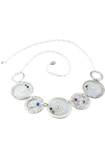 G Gallery & Glass Studio Sterling/swarovski Necklace - Main Image
