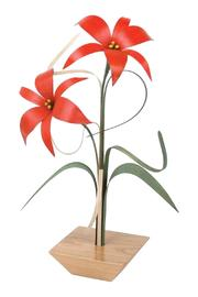 G Gallery & Glass Studio Wood Wildflower Lillys - Front cropped