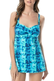 Gabar Twist Bra Swimdress - Front cropped