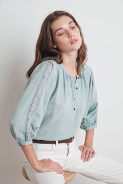 Velvet by Graham & Spencer  Gabby Lyon Peasant Blouse - Alternate List Image