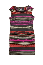 Gabby Skye Black Multi-Stripe Dress - Product Mini Image