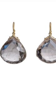 Gabrielle Sanchez 65 Carat Faceted Rutilated Quartz Teardrop 22x24x10mm, 18k - Product Mini Image