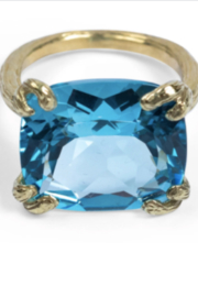 Gabrielle Sanchez Blue Topaz Faceted Ring - Front full body
