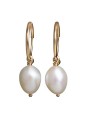 Gabrielle Sanchez Tiny Freshwater Pearl on Endless Hoop 14k - Product Mini Image