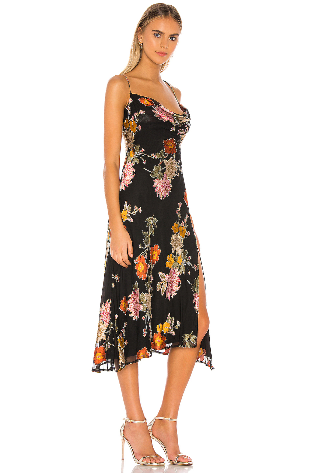 ASTR Gaia Floral Maxi Dress - Side Cropped Image