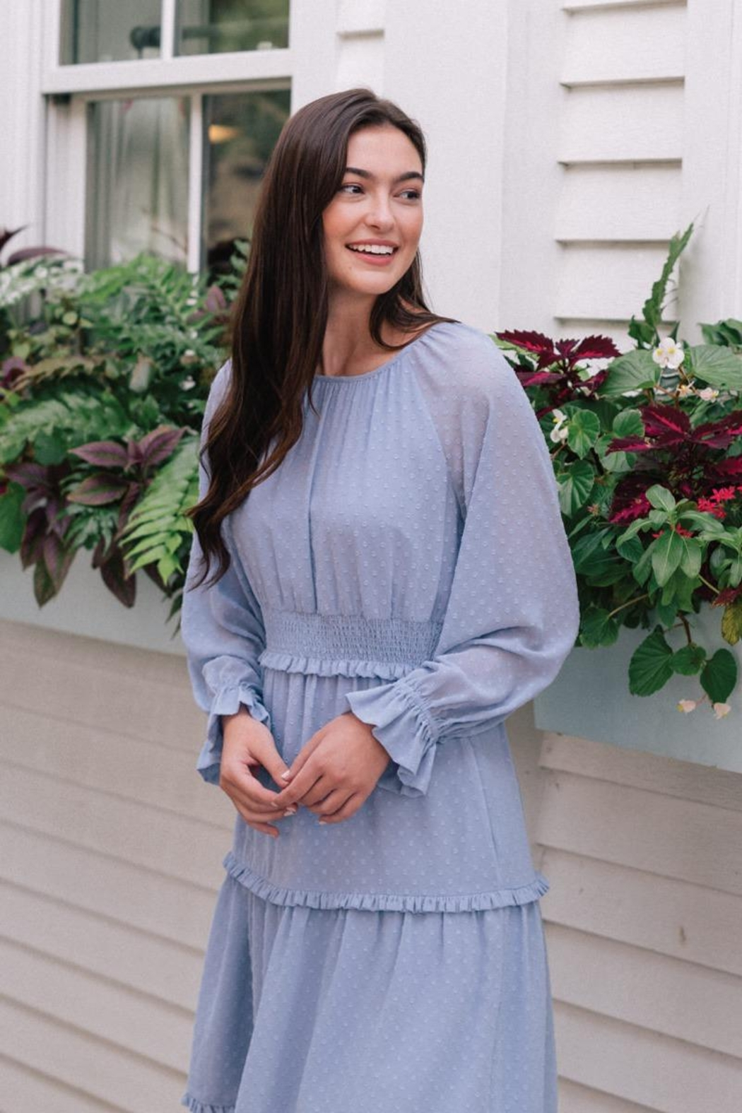 Gal Meets Glam Periwinkle Dress - Front Full Image