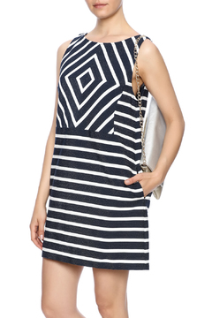 Shoptiques Product: Navy Stripe Dress