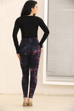 Fashion Village Orange Galaxy Warm Leggings - Alternate List Image
