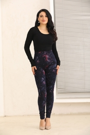 Fashion Village Orange Galaxy Warm Leggings - Product Mini Image
