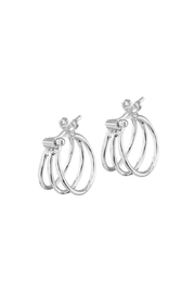 Galerias 925 Delta Hoops - Product Mini Image