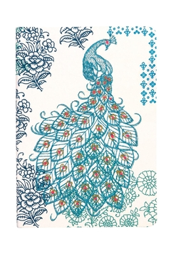 galison Embroidered Peacock Journal - Alternate List Image