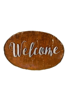 Shoptiques Product: Galvanized-Metal Welcome Sign