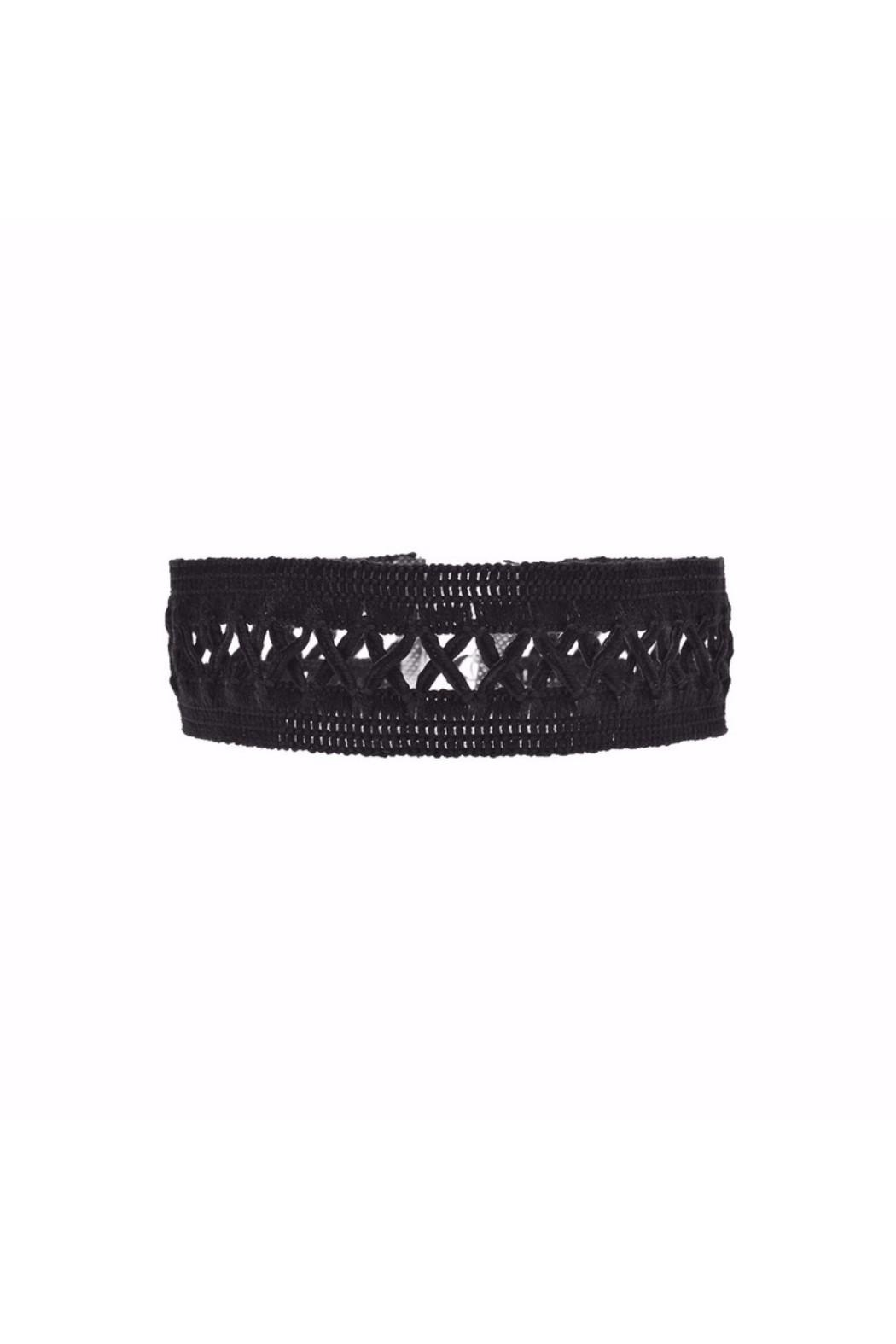galys fashion house Amy Crisscross Choker - Main Image