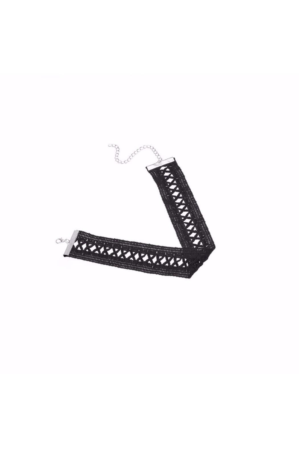 galys fashion house Amy Crisscross Choker - Side Cropped Image