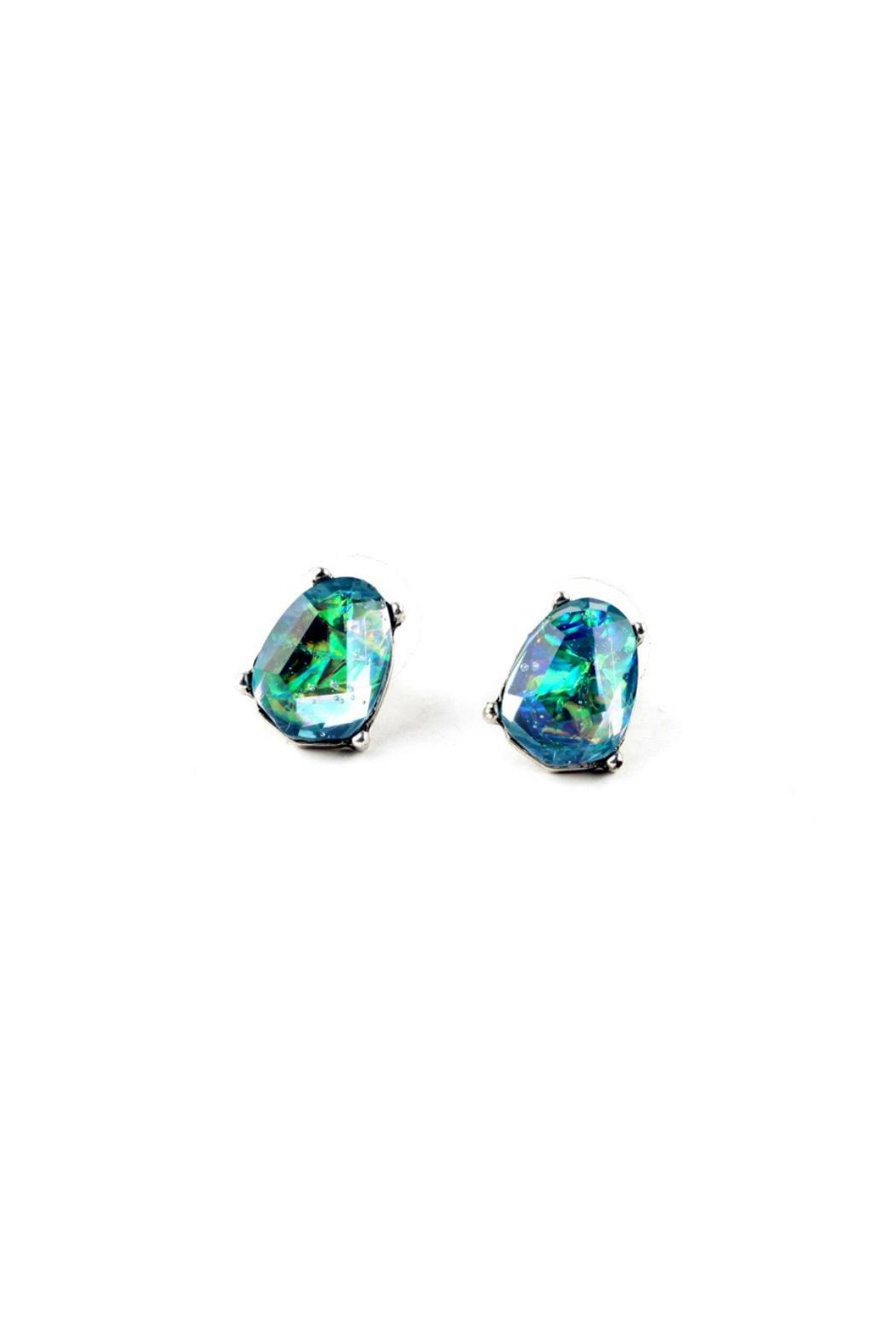 galys fashion house Dazzling Stud Earrings - Front Cropped Image