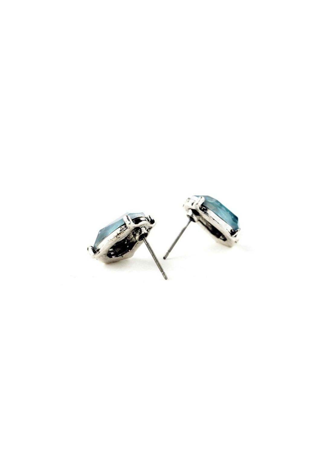 galys fashion house Dazzling Stud Earrings - Front Full Image