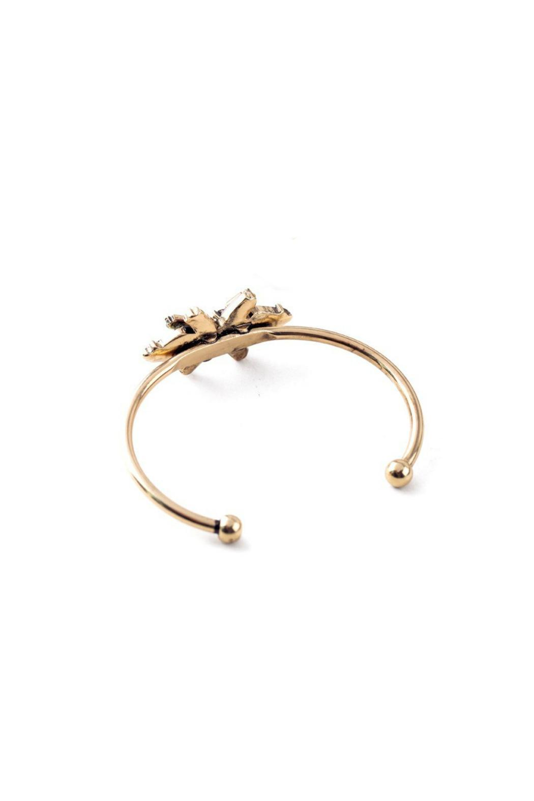 galys fashion house Flower Cuff Bangle - Front Full Image
