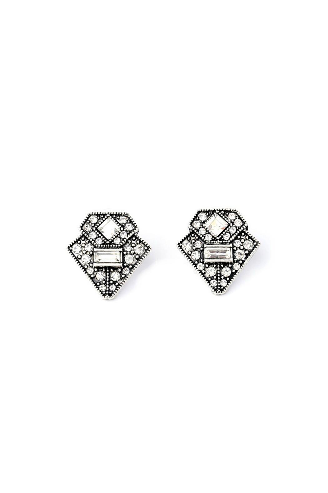 Galys Fashion House Funky Stud Earrings Front Cropped Image