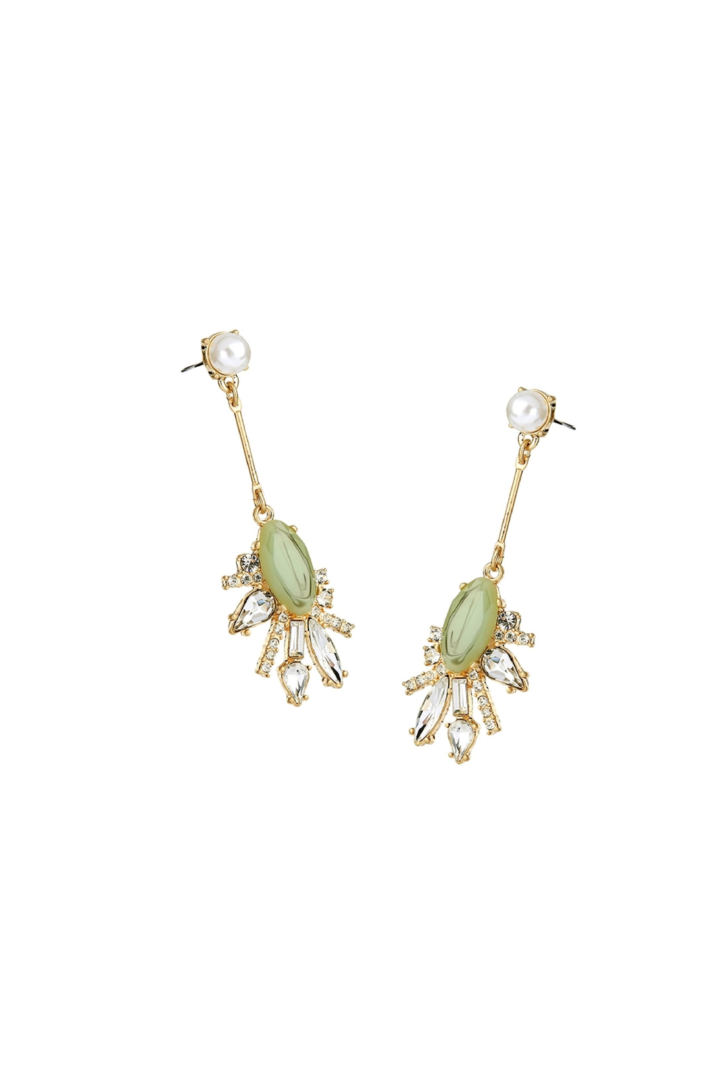 galys fashion house Heidi Drop Earrings - Front Full Image