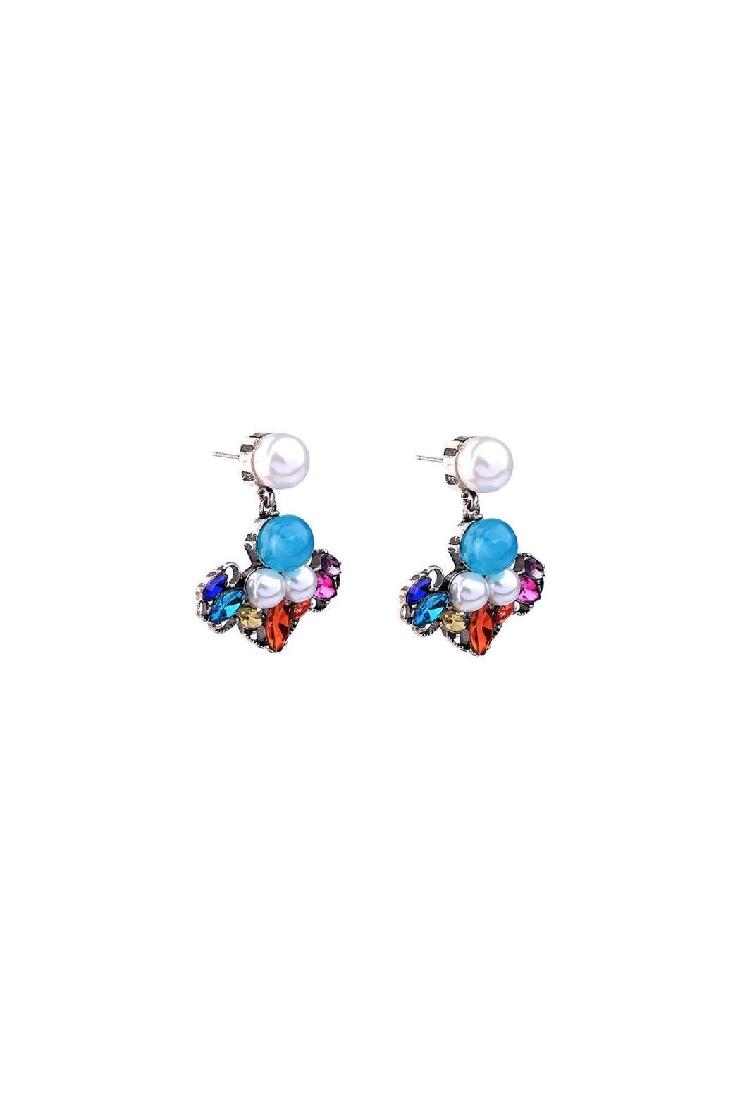 galys fashion house Leslie Dangling Earrings - Front Full Image