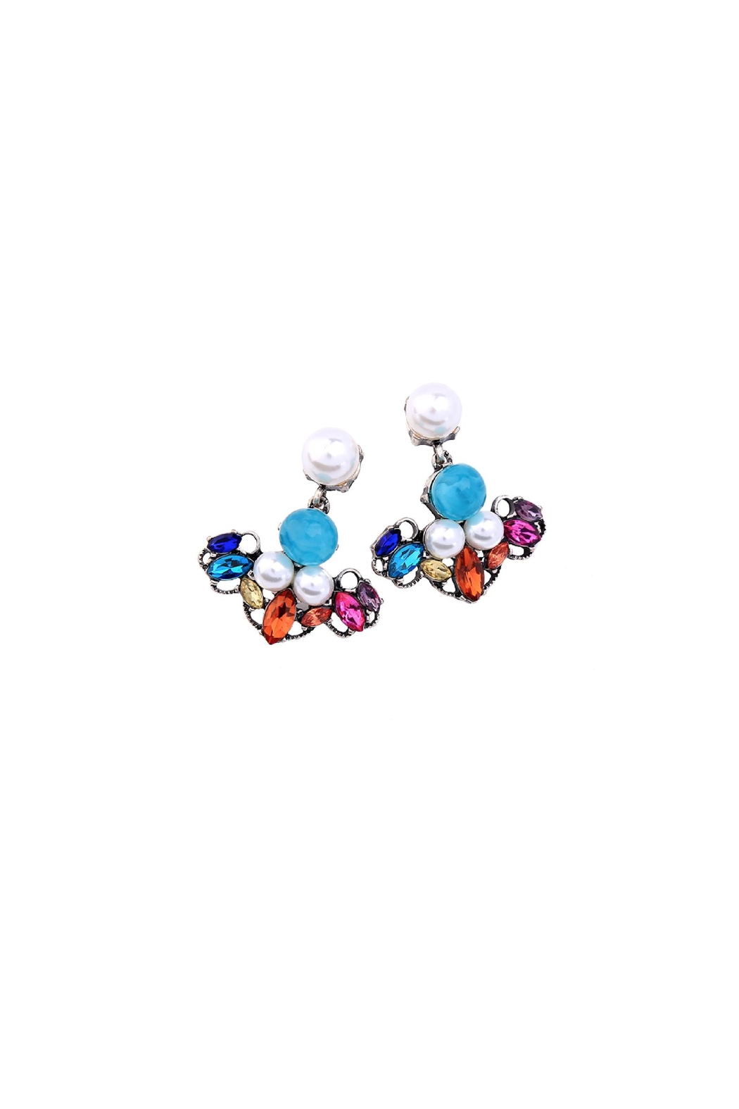 galys fashion house Leslie Dangling Earrings - Side Cropped Image