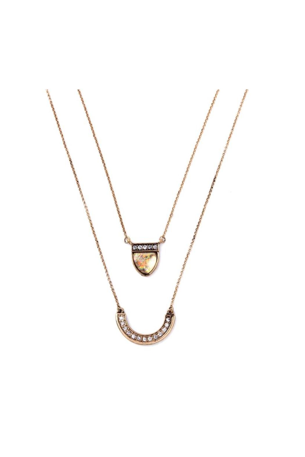galys fashion house Multilayer Pendant Necklace - Side Cropped Image