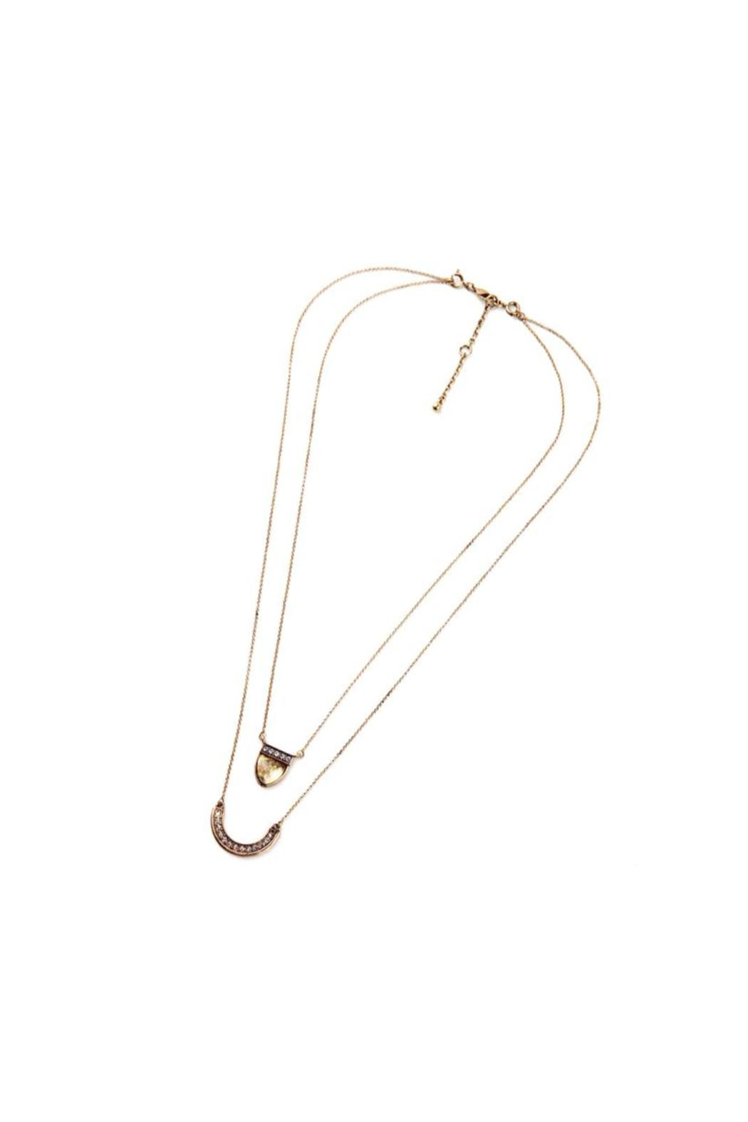 galys fashion house Multilayer Pendant Necklace - Front Full Image