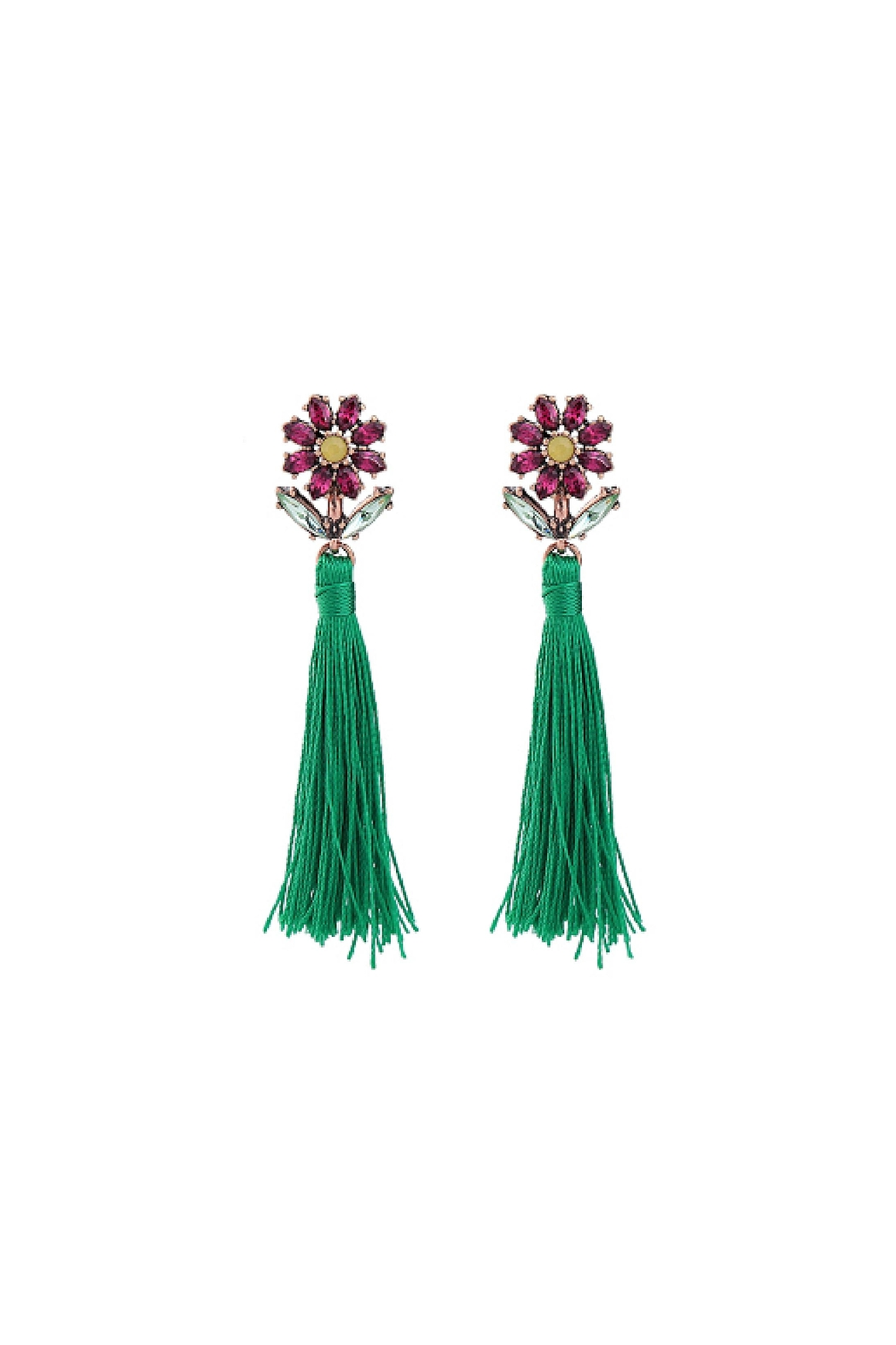 galys fashion house River Tassel Earrings - Front Cropped Image