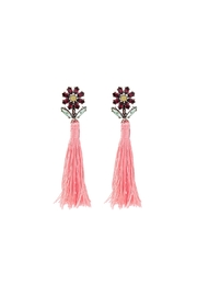 galys fashion house River Tassel Earrings - Front cropped