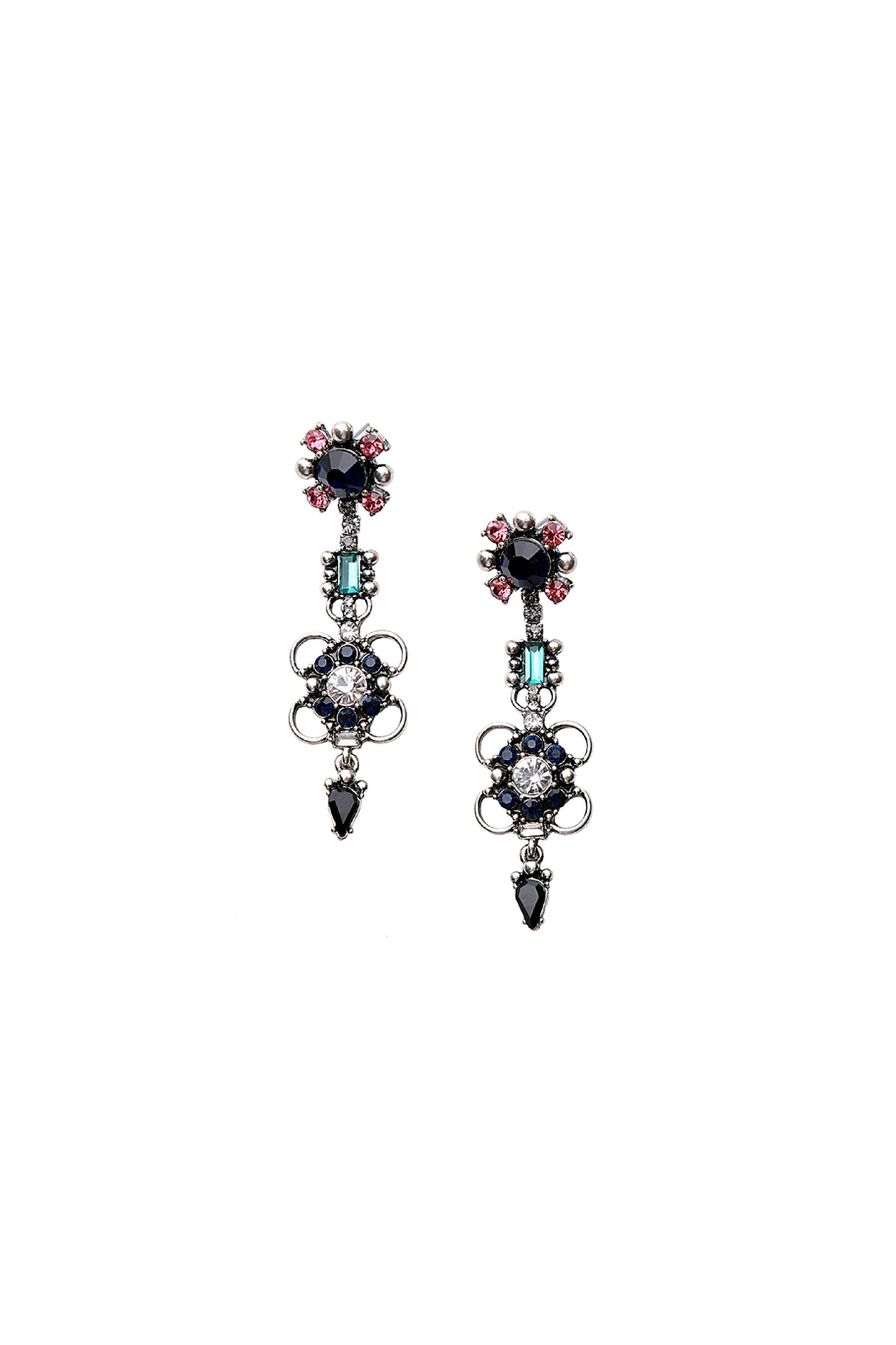 galys fashion house Rowan Statement Earrings - Front Full Image