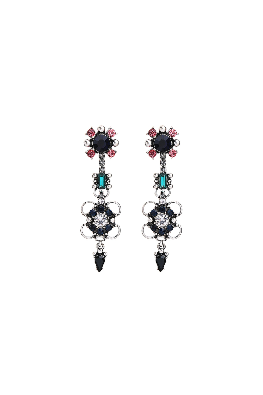 galys fashion house Rowan Statement Earrings - Front Cropped Image