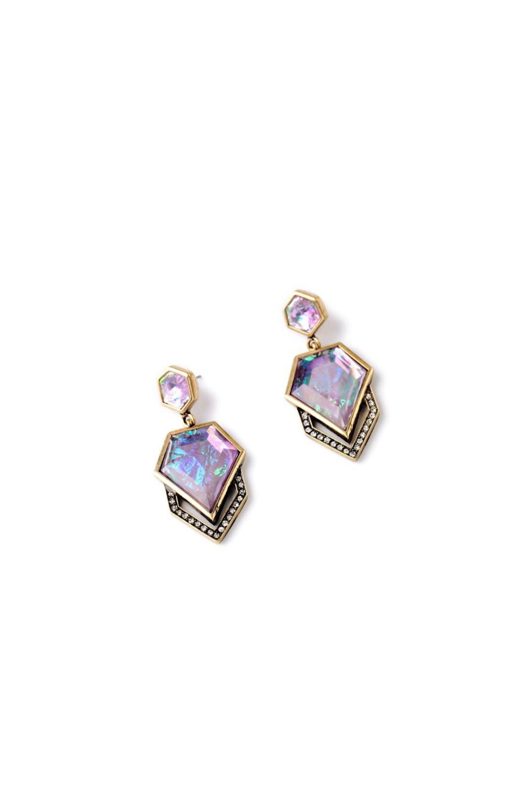 galys fashion house Stunning Drop Earrings - Front Full Image