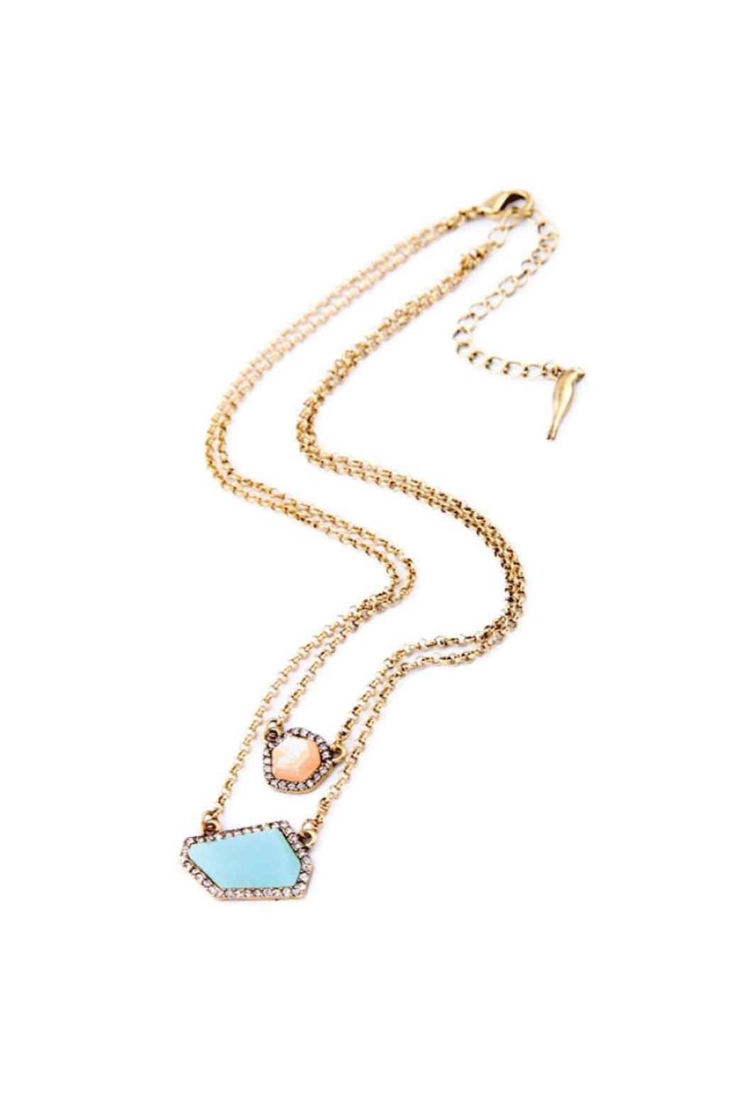 galys fashion house Stunning Layering Necklace - Front Full Image