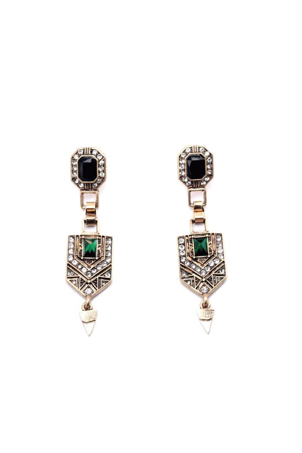 galys fashion house Vintage Drop Earrings - Main Image