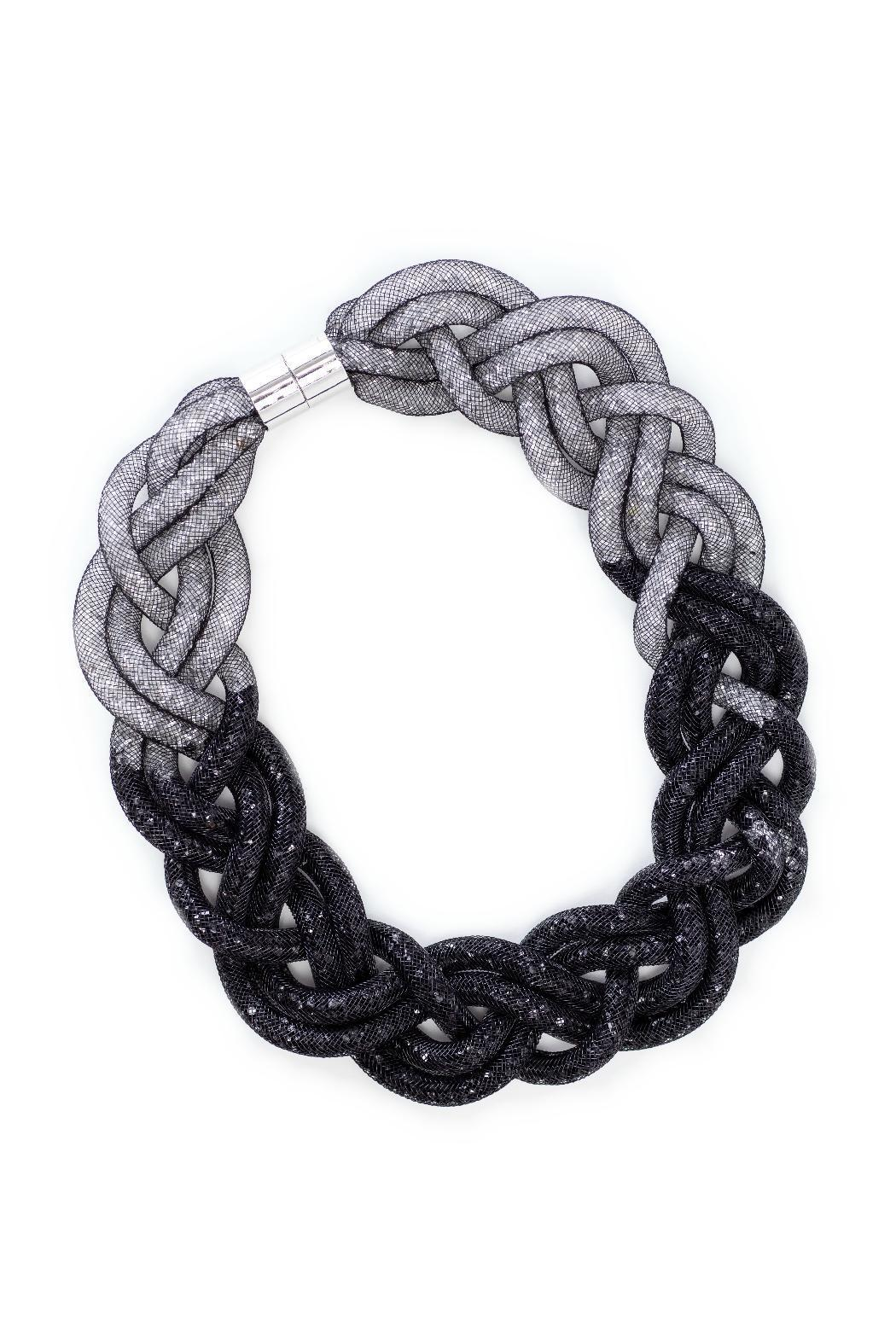 galys fashion house Woven Stardust Necklace - Front Full Image