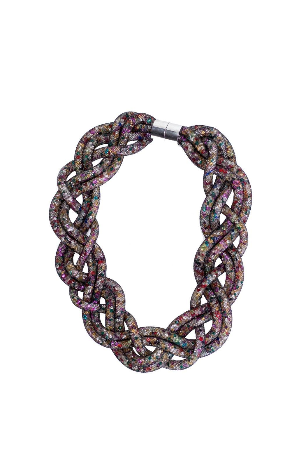 galys fashion house Woven Stardust Necklace - Front Cropped Image