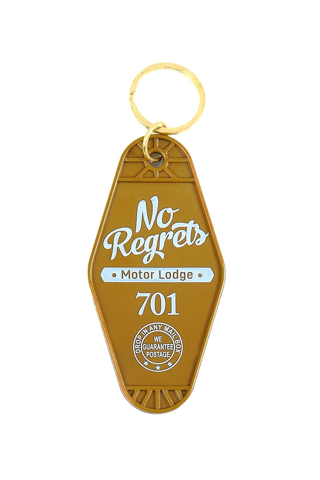 Gama-Go No Regrets Keychain - Front Cropped Image