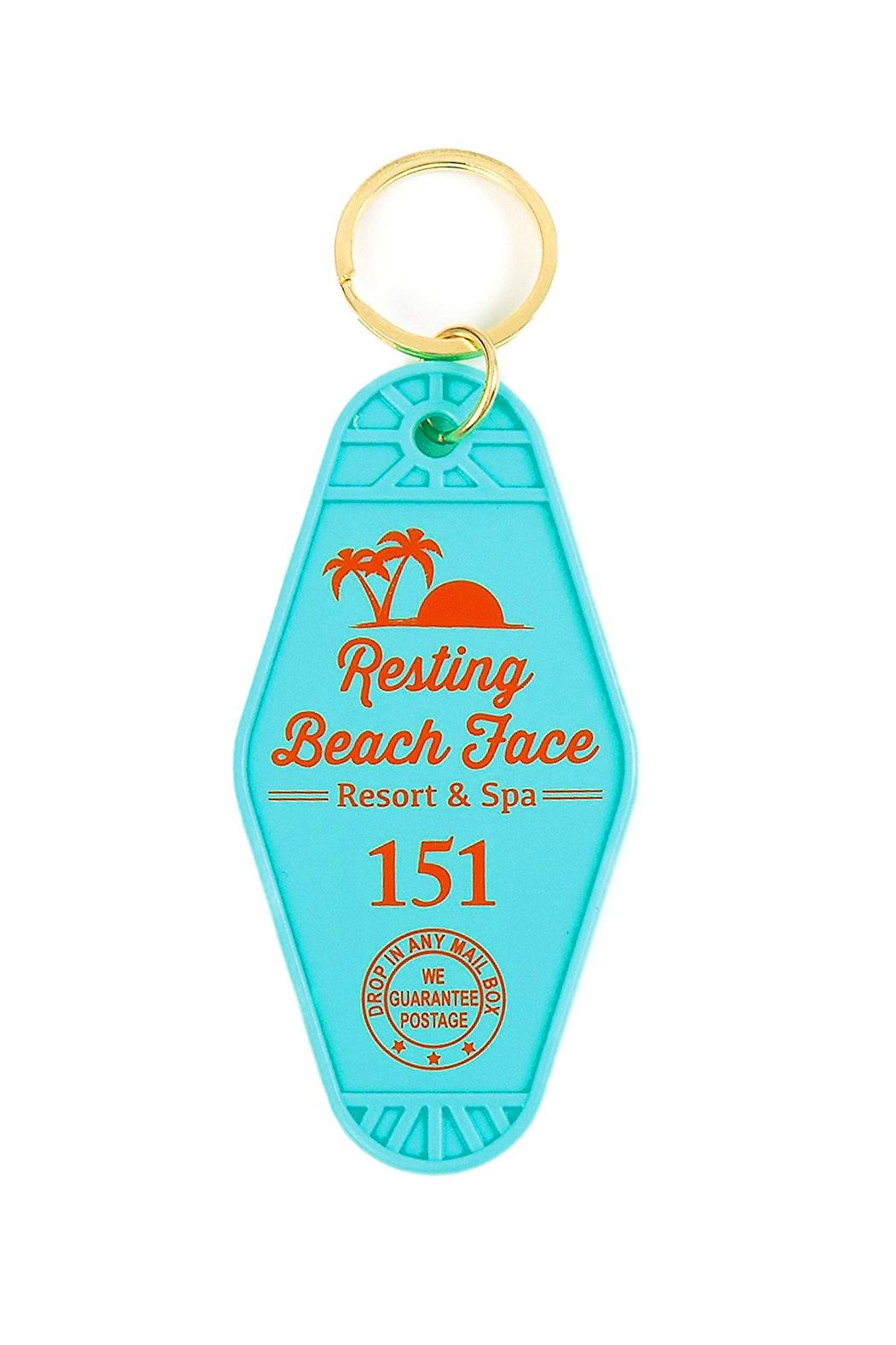 Gama-Go Resting Beach Keychain - Front Cropped Image