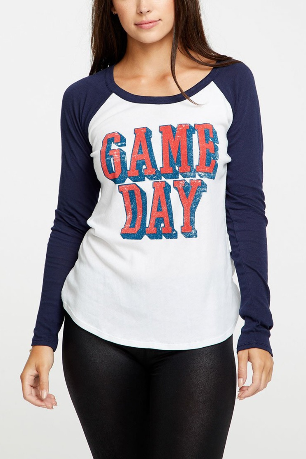 Chaser Game Day Baseball Tee - Front Cropped Image