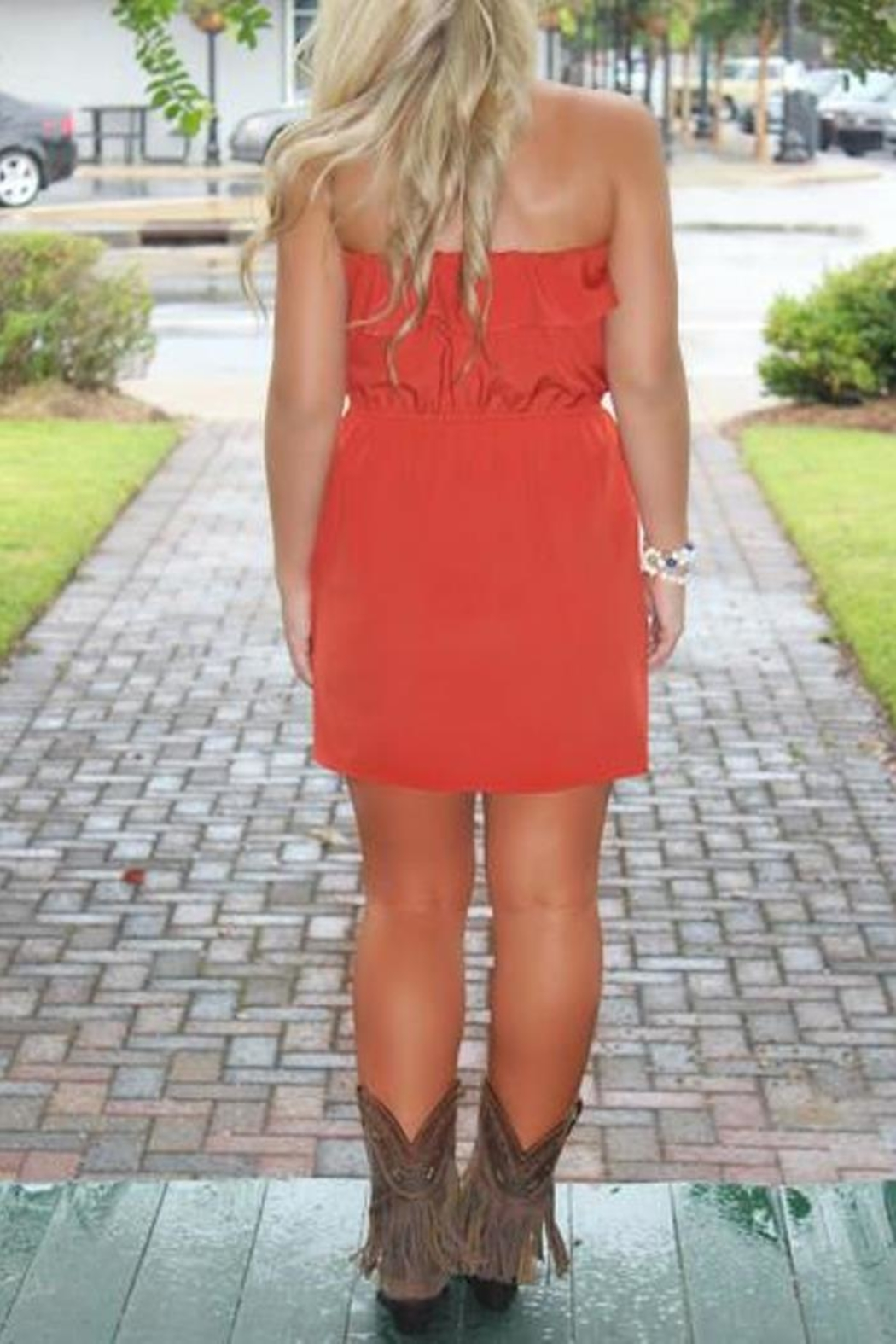 Glam Game Day Dress - Front Full Image