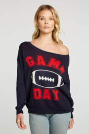 Chaser Game Day Oversized Sweater - Front cropped