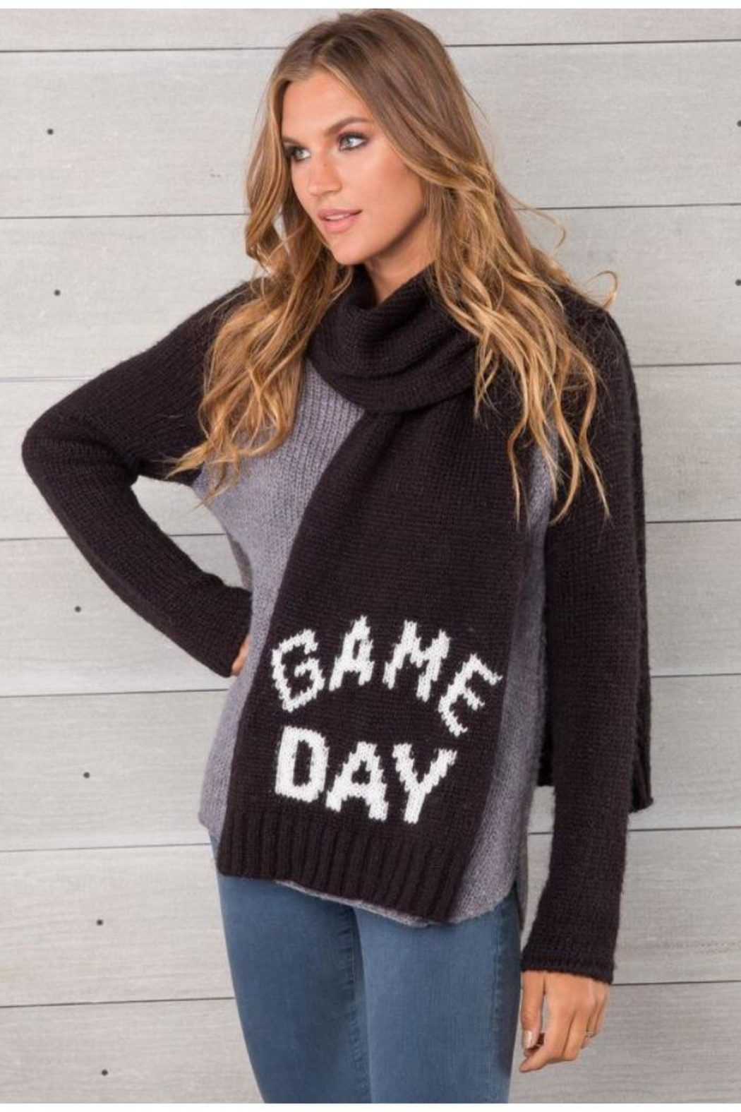 Wooden Ships Game Day Scarf - Front Full Image