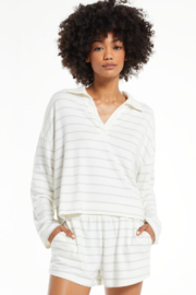 z supply Game On Stripe Long Sleeve Top - Product Mini Image