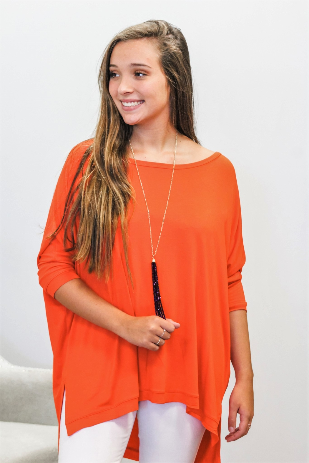 Adrienne Gameday Dolman - Side Cropped Image