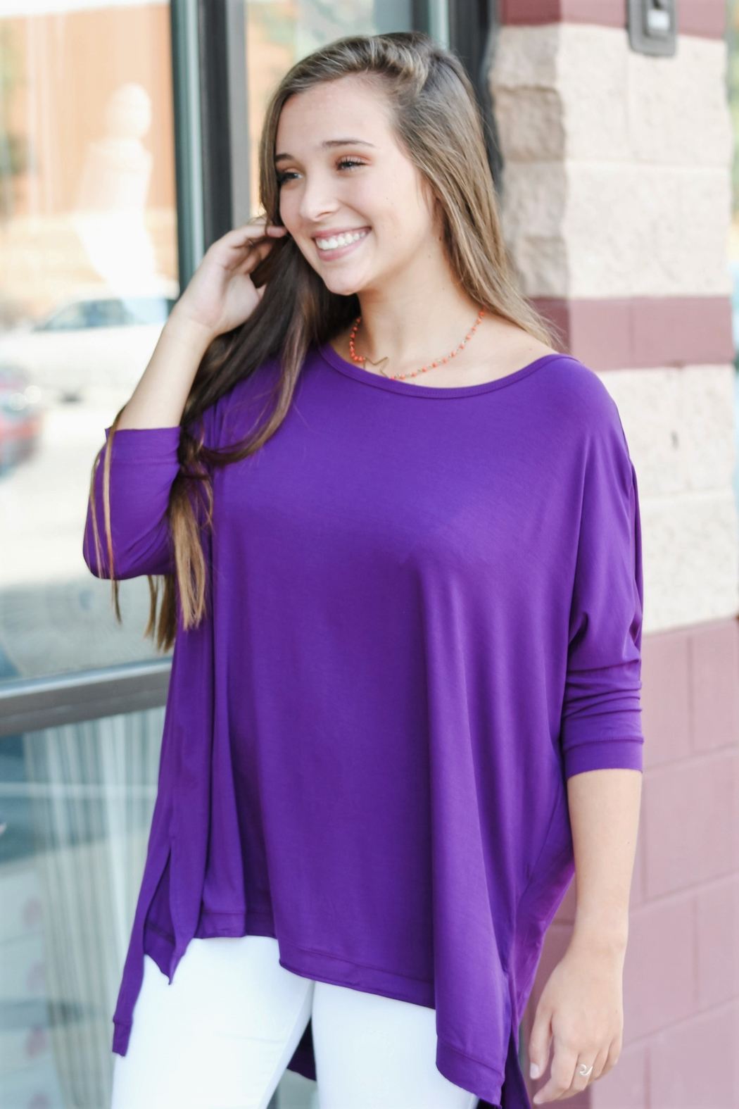 Adrienne Gameday Dolman - Front Full Image